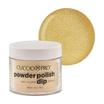 Cuccio Pro Powder Polish Dip System 1.6oz  Metallic Lemon Gold #5523