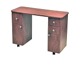Laminate Double Storage Nail Table