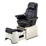 Pibbs PS92-I Black Chair Top w/Ivory Base Footsie Spa